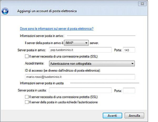 posta libero it server alice