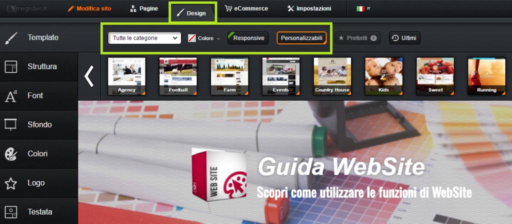 come scegliere il design del tuo sito web website