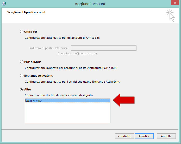 posta outlook senza cancellare server