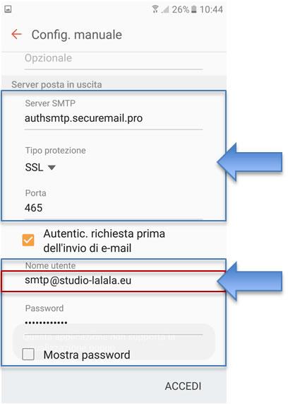 Mail su android configurazione email su google android - Porta server alice iphone ...