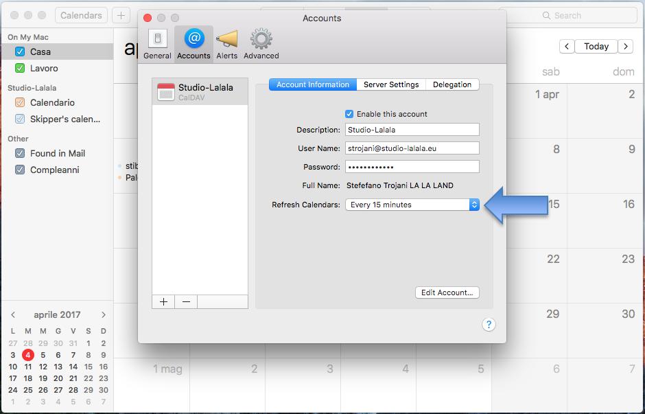 Imposta Calendario.Configura Il Calendario Caldav Su Mac