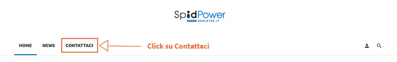 Menu contattaci Spid Power
